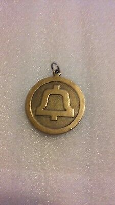 "Vintage Brass BELL Telephone ""Autumn Phone Fest"" Fob"