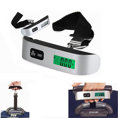 Portable Digital LCD Electronic Hand Held Luggage Balance Scale Hook Weight 50kg
