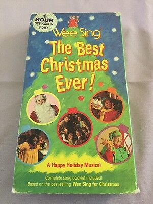 wee sing the best christmas ever vhs live video a happy holiday musical rare - Wee Sing The Best Christmas Ever