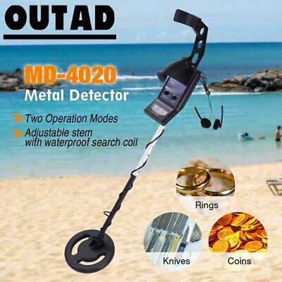 MD-4020 Deep Coil Metal Detector Sensitive Searching Gold Digger w/Headphones FH