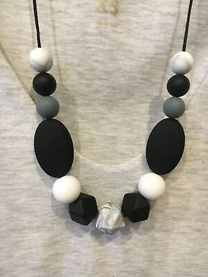 Silicone Necklace for Mum Jewellery Beads Sensory (was Teething)Aus Mono Gift
