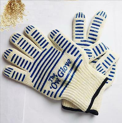 Heat Proof OVEN Mitt Glove Resistant Cooking Kitchen 540°F Hot Surface Handler