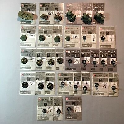 Axis & Allies Miniatures Japan Lot / 32 Pieces / Common & Uncommon