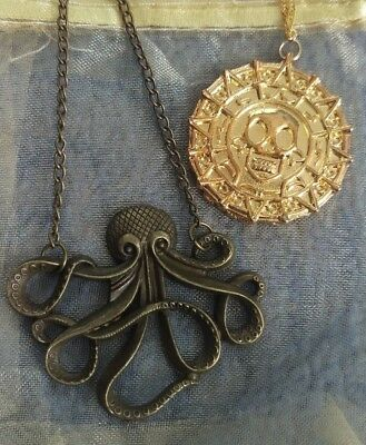 Pirates of the Caribbean inspired Necklaces. Free post. Oz seller.