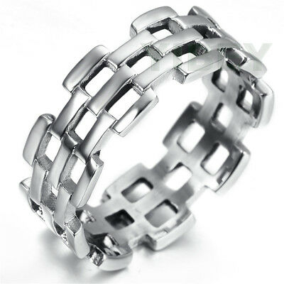 Hollow Star of David Wide Cast Ring Stainless Steel Band Ring R656