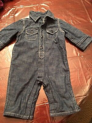 Baby Gap 2969 Infant Boys One Piece Denim 3-6 Months