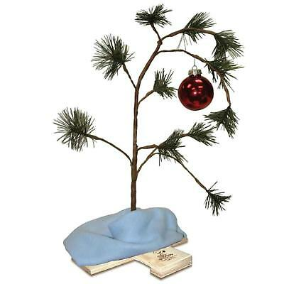 Musical Charlie Brown Tree Novelty Indoor Tabletop Christmas Decoration 24 Inch