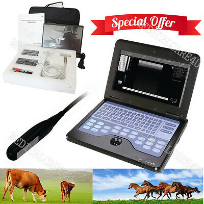 CE Veterinary Laptop Ultrasound Scanner 7.5Mhz Rectal Probe Horse/Bovine/Equine