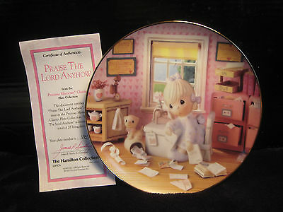 "New! Mib! Precious Moments Classics Plate  Collection ""praise The Lord Anyhow"""