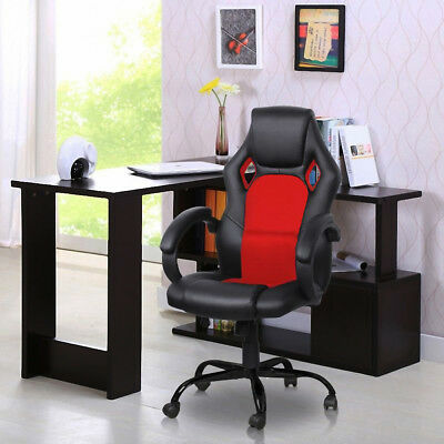High Executive Ergonomic Racing Gaming Computer Desk Office Reclining Chair US