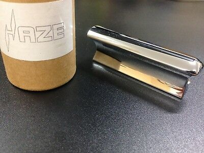 "Haze HS-SS80 3"" Stainless Steel Slide Lap Dobro Hawaiian Pedal Guitar Tone Bar"