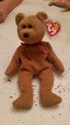 "Ty Collectible Beanie Babies ""Curly"" Bear - lots of errors"