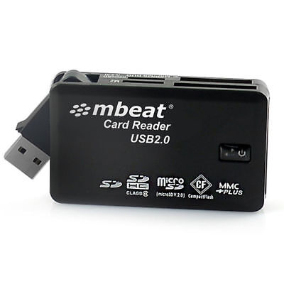 mbeat USB 2.0 All In One High Speed Card Reader SD/M2/MicroSD Swivel Connection