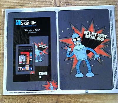 Amazon Kindle 4th Gen DecalGirl Matte Skin Kit  ~ BENDER - BITE by Futurama New