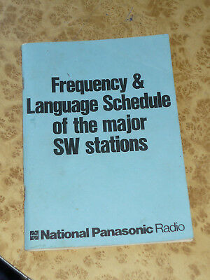 70s 80s National Panasonic Radio SW station Frequency & Language Schedule RF-799