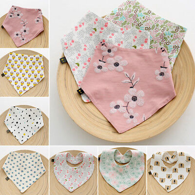 Baby Boy Girl Newborn Bibs Cotton Saliva Towel Burp Cloth Feeding Bandana Eating