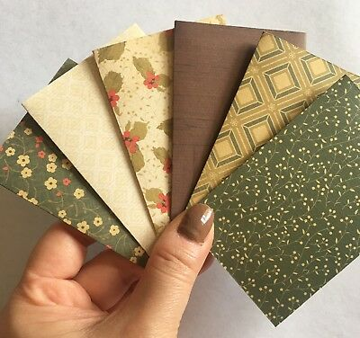 6 Handmade Christmas Birthday gift Card holder Envelope  - FREE POST