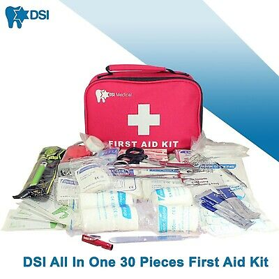 DSI Big First Aid Emergency Trauma Wound Survival Medical Injure Kit 30 Pieces