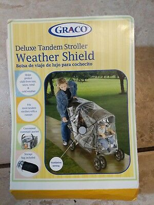 New Graco Duo Stroller Rain Snow Shield/Cover Fits Most Tandem Strollers