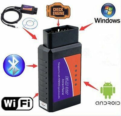 ELM327 USB Interface OBDII OBD2 Diagnostic Auto Car Scanner Bluetooth WIFI %