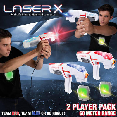 Laser X Double 2 Player Outdoor/Indoor Laser Skirmish Tag Game Set Two Guns Kids