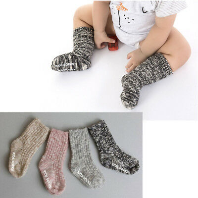 Cute Baby Knit Crochet Cotton Soft Wool Mid-Calf Length-Socks Thick Winter Warm