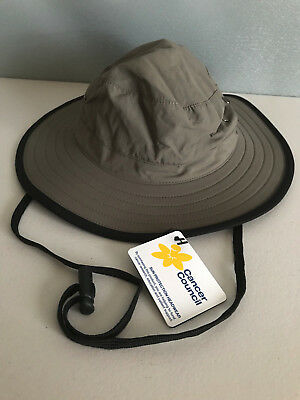 BNWT Cancer Council Wide Brim Summer Sun Hat With Adjustable Chin Strap 59cm