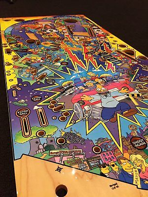 * NEW Stern Playfield Set for Simpsons Pinball Party - Clear Coated