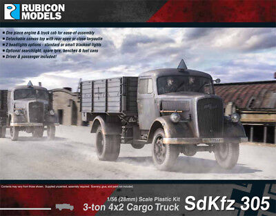 Rubicon - 28Mm Sdkfz 305 (Opel Blitz) - German - World War Ii - 1/56 -Ww2 Ru017