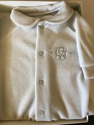 Cambrass Luxury Unisex Grey Baby All in One Velvet Playsuit Sleepsuit Babygro