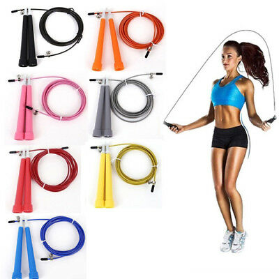 Adjustable 3M Skipping High Speed Boxing Cable Wire Jump Skip Rope Crossfit Gym