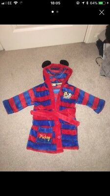 Mickey Mouse Dressing Gown 12-18 Months Disney