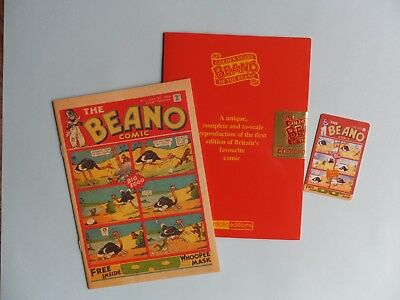 Reproduction of first ever Beano comic including folder & phone card