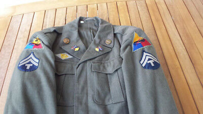 WWII Combat Affiliated 66th Armor 2nd Armored Division Tech Corporal Ike Jacket