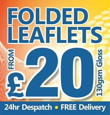 A4 Folded leaflets / flyers / Menus printed on 130gsm gloss from