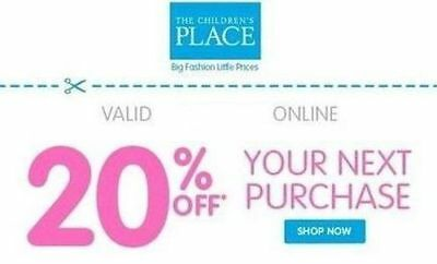 Children's Place discount coupon 20% off - EXP 12/31/2017 – Online ONLY!