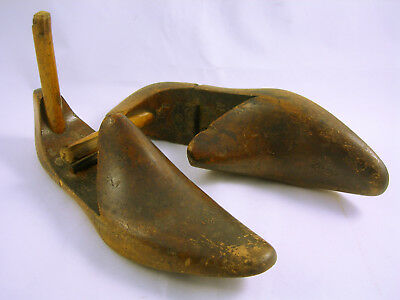 Vintage Pair of Cobblers Wooden Hinged Shoe Forms (WH_2168)