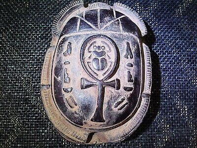 ANCIENT EGYPTIAN ANTIQUE Scarab Beetle Khepri Scarabeus Sculpture 3200-3101 BC