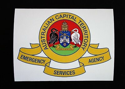 ACT EMERGENCY SERVICES AGENCY STICKER 135x100mm