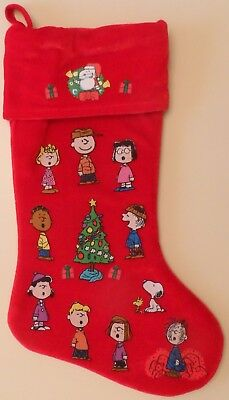 Peanuts Red Christmas Stocking Charlie Brown Snoopy Charles Schultz Good Grief