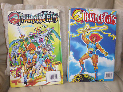 THUNDERCATS - 2 x Hardback Annuals Books - 1986 & 1989 Colour Pages Vintage Rare