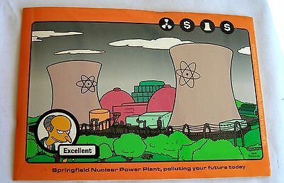 Simpsons Mr Burns sticker  Licensed Springfield Nuclear Power Plant
