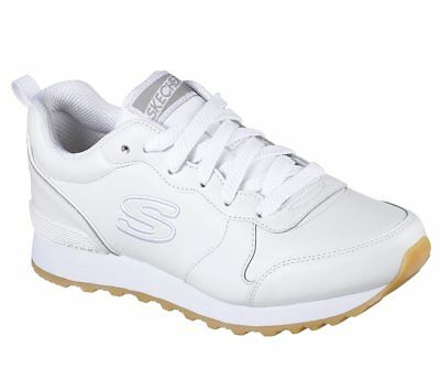 15fbf19a2170 New Womens Skechers OG 85 Street Sneak Low Shoes Style 113 White 172B pr