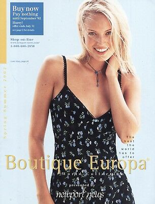 2002 Boutique Europa (Newport News) Catalog