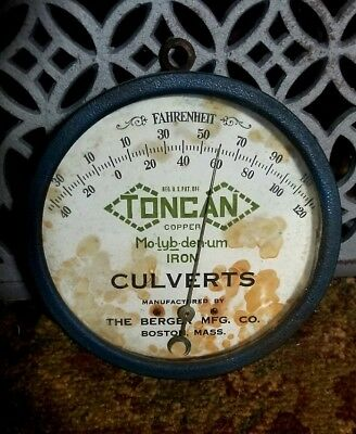 "1910's Antique Berger MFG Company ""Toncan Iron Culverts"" Boston Massachusetts"