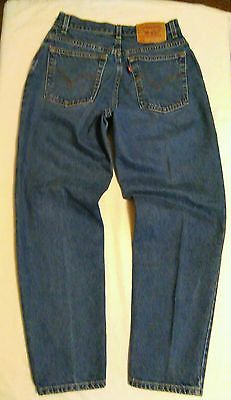 LEVIS 550 Tapered Vintage High Waist MOM Jeans Relaxed Fit Size 10S W30xL29