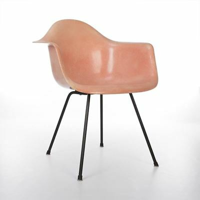 Salmon 1st Generation Zenith Vintage Original Eames DAX Dining Arm Shell Chair
