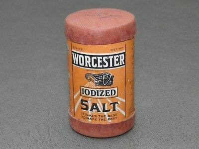 Vintage Worchester Salt Sample Shaker Tin 1930's
