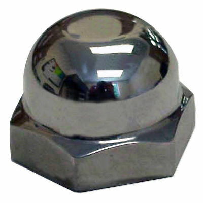 351114S Steering Wheel Chrome Acorn Nut For Ford Tractor 8N NAA Jubilee NAA