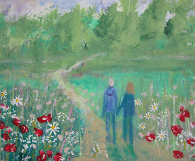 A Country Walk: an original painting on canvas by Jenny Hare
